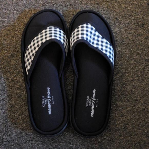 1f6e1e7c7b3bf8 Avon Shoes - Memory foam flip flops by Avon
